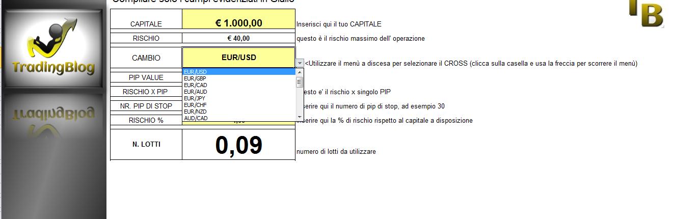 Forex Calcolatore Lotti